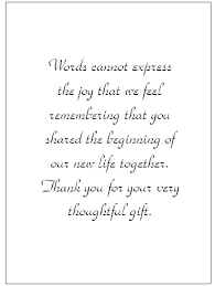 wedding gift note thank you for wedding search wedding ideas