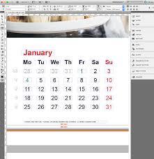 corporate calendar in indesign incl template saxoprint