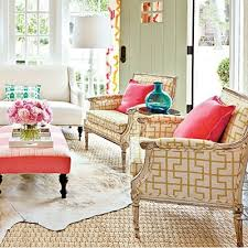 Coral Ottoman Color Obsession Coral Sisal Decorating And Color Pallets