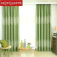 dark green sheer curtain panels green sheer curtains european style green leaves embroidered blackout curtains
