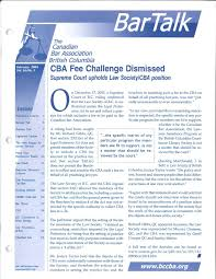 Bc Wildfire Act Regulations by Bartalk February 2004 By The Canadian Bar Association Bc Branch