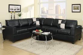 Sectional Sofas For Less Black Faux Leather Sectional Sofa F7630 Buy 4 Less Furniture