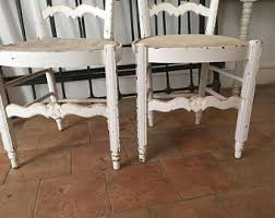 Shabby Chic Dining Table And Chairs Shabby Chic Dining Chairs Etsy