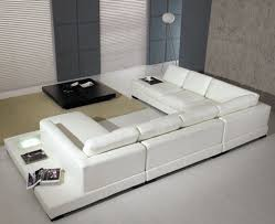 Modern Contemporary Leather Sofas Modern Leather 5 Sectional Sofa In White