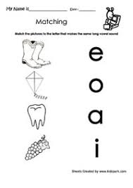 match the alphabet with same sound worksheet vowels matching