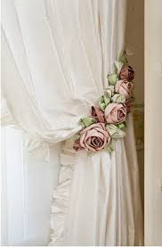 Shabby Chic Com by Beddysdreamroom White Curtains With Flowers Hanger
