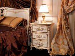 louis xvi style bedside table wooden rectangular white and