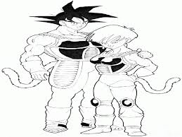 dragon ball z coloring pages bardock and goku and raditz