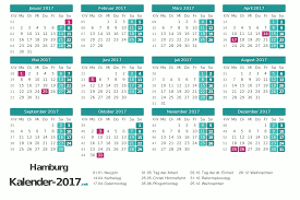 Kalender 2018 Hamburg Feiertage Feiertage Hamburg 2017