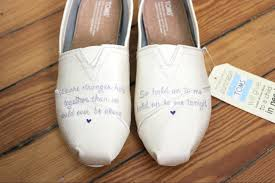 wedding shoes toms bridal wedding painted toms laquist