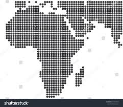 Africa Middle East Map by Africa Middle East Dotted Map Template Stock Vector 237248656