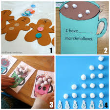 12 winter math activities for preschoolers