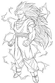 dragon ball coloring pages goku super saiyan coloring pages