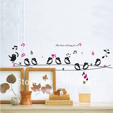 birds singing diy wall decor wall stickers animals poster
