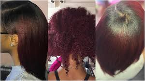 silk press on natural hair youtube