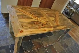 barn door dining table barn door table by lightfootltd lumberjocks com woodworking