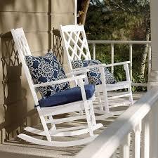 Chairs For Porch White Cushion Rocking Chair Cushions Decoration