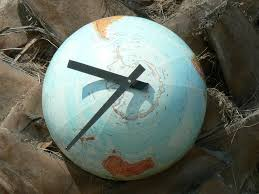 themed wall clock mad for mid century globe clocks for a travel themed nursery