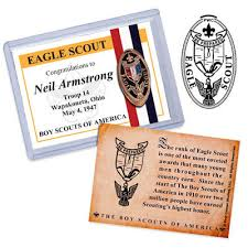 eagle scout congratulations card painted eagle scout elongated on trading card