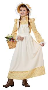 girl costumes child s yellow pioneer girl costume candy apple costumes black