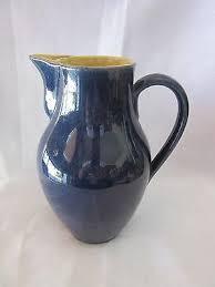 Denby Vase Pottery Vintage Jug Pitcher Bourne Denby Made In England Water Pottery