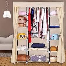 5tiers portable closet storage organizer wardrobe clothes rack and