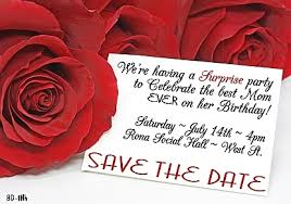 roses for birthday save the date magnets