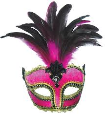 mask with feathers pink velour masquerade mask my fancy dress ireland