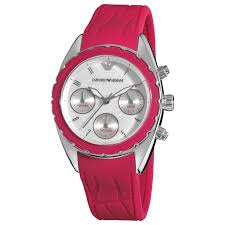 Overstock Com Emporio Armani Women U0027s Ar5937 U0027sport U0027 Pink Silicone Strap Watch