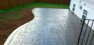 Stamped Concrete Patio As Patio - curved concrete patio blackwater concrete