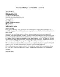 cover letter cover letter examples for finance jobs examples of