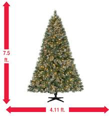 7 5 ft pre lit led sparkling pine set artificial