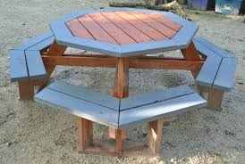 octagon picnic table plans with umbrella hole octagon picnic table woodcraft octagon picnic table octagon picnic