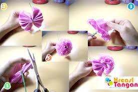 cara membuat bunga dengan kertas hias tutorial cara membuat kerajinan tangan dari kertas krep kreasi tangan