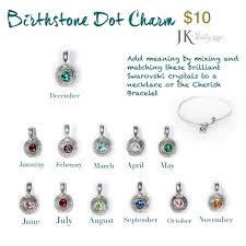 s day necklace with birthstone charms birthstone charms jk by thirty one gifts jkbythirtyonegifts http