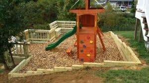 providing a safe backyard playground lawn and landscape