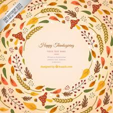 thanksgiving background wih leaves vector free