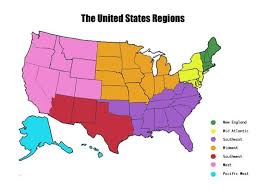 what are the regions of the united states map of the united