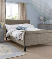 portofino bed textured weave mid french grey from next home