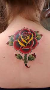 rose tattoo study old lápis de cor nanquim preto
