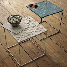 folding outdoor side table outdoor furniture metal side table wood folding regarding idea 4