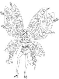 flora winx coloring pages download print flora winx coloring