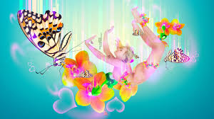 heart fly wallpapers fantasy fly butterfly flowers 2014 multicolors hd