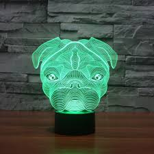 3d illusion lamp jawell night light shar pei 7 changing colors