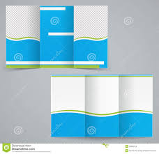 tri fold brochure template free download tri fold business brochure template blue design stock vector