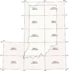 Longitude Map Indiana Topographic Index Maps In State Usgs Topo Quads 24k