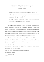 how to write academic papers diophantine equation solver jennarocca academic paper on the solution of diophantine equation x 3 y