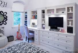 wall unit with desk home office contemporary with artwork built in