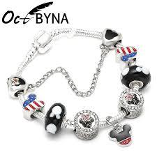 pandora glass bracelet images Octbyna new crystal mickey minnie mouse pandora charms bracelet jpg