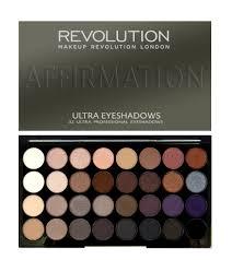 revolution ultra 32 shade eyeshadow palette affirmation makeup